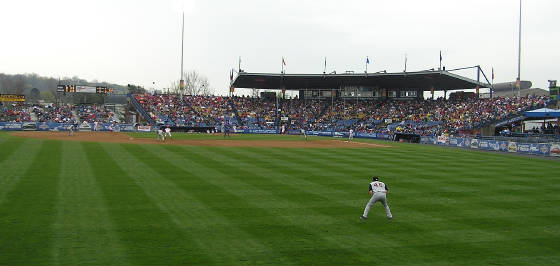 Reading Municipal Stadium from the Outfield
