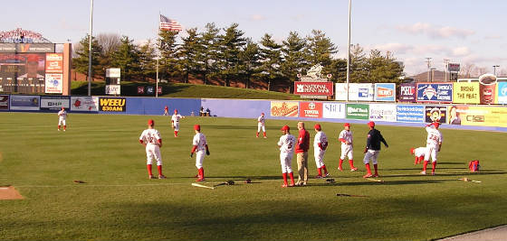 Pre-game warm ups - Reading, Pa
